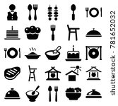 plate icons. set of 25 editable ... | Shutterstock .eps vector #781652032