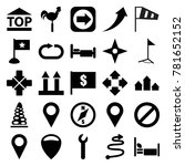 direction icons. set of 25... | Shutterstock .eps vector #781652152
