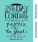 bible verse this is the day the ... | Shutterstock .eps vector #781652326