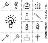 glow icons. set of 13 editable... | Shutterstock .eps vector #781652746