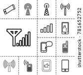 cellular icons. set of 13... | Shutterstock .eps vector #781652752