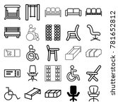seat icons. set of 25 editable... | Shutterstock .eps vector #781652812
