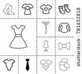 garment icons. set of 13... | Shutterstock .eps vector #781652818