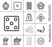 risk icons. set of 13 editable... | Shutterstock .eps vector #781653352