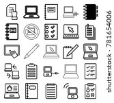notebook icons. set of 25... | Shutterstock .eps vector #781654006