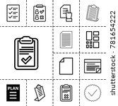 list icons. set of 13 editable... | Shutterstock .eps vector #781654222