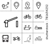 road icons. set of 13 editable... | Shutterstock .eps vector #781654252