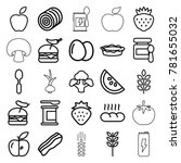 nutrition icons. set of 25... | Shutterstock .eps vector #781655032