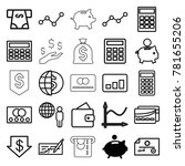 economy icons. set of 25... | Shutterstock .eps vector #781655206