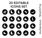boot icons. set of 20 editable... | Shutterstock .eps vector #781655716