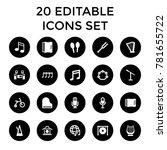 musical icons. set of 20... | Shutterstock .eps vector #781655722