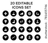 way icons. set of 20 editable... | Shutterstock .eps vector #781655746