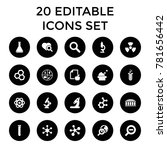 research icons. set of 20... | Shutterstock .eps vector #781656442