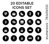 dessert icons. set of 20...   Shutterstock .eps vector #781656532