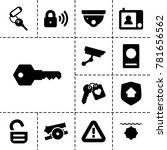 security icons. set of 13... | Shutterstock .eps vector #781656562