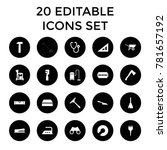 tool icons. set of 20 editable... | Shutterstock .eps vector #781657192