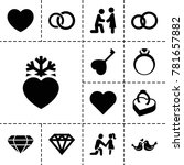 marriage icons. set of 13... | Shutterstock .eps vector #781657882