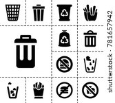 junk icons. set of 13 editable... | Shutterstock .eps vector #781657942