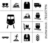 freight icons. set of 13... | Shutterstock .eps vector #781657996
