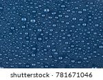 texture of water drops on a...   Shutterstock . vector #781671046
