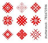set of national belarus... | Shutterstock .eps vector #781672546