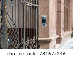 the intercom is installed by... | Shutterstock . vector #781675246