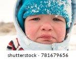 a little boy cries because he... | Shutterstock . vector #781679656