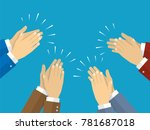human hands clapping. vector... | Shutterstock .eps vector #781687018