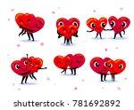 love couple set. scenes with... | Shutterstock .eps vector #781692892