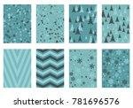 winter poster backgrounds with... | Shutterstock .eps vector #781696576