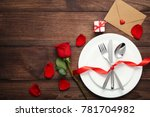 kitchen cutlery on white plate