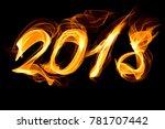 fiery figures 2018 | Shutterstock . vector #781707442