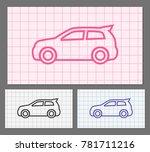 web design of car icon | Shutterstock .eps vector #781711216
