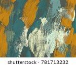 oil painting on canvas handmade.... | Shutterstock . vector #781713232