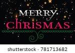 merry christmas card   Shutterstock . vector #781713682