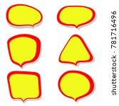 speech bubble colorful set | Shutterstock .eps vector #781716496