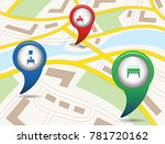 set of tourism services map... | Shutterstock .eps vector #781720162