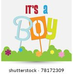 it's a boy | Shutterstock .eps vector #78172309