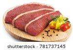 three steak on the table | Shutterstock . vector #781737145