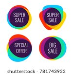 collection of sale discount... | Shutterstock .eps vector #781743922