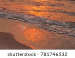 sea and sand with reflection of ... | Shutterstock . vector #781746532