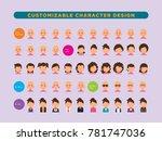 customizable human character | Shutterstock .eps vector #781747036
