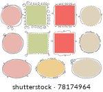 cute doodle frames | Shutterstock .eps vector #78174964