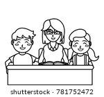 teacher and kids design | Shutterstock .eps vector #781752472