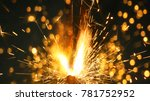 bengal lights background.... | Shutterstock . vector #781752952