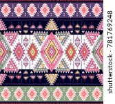 indian rug paisley ornament... | Shutterstock .eps vector #781769248