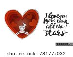 paper greeting card with red... | Shutterstock .eps vector #781775032