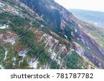 aerial view on the old road...   Shutterstock . vector #781787782