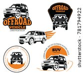 off road vehicle labels or... | Shutterstock . vector #781794922