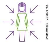 businesswoman standing with...   Shutterstock .eps vector #781801756